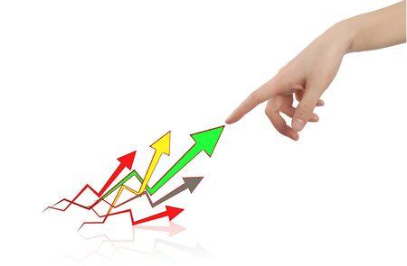 Succes Arrow Stock Photo - 10517205