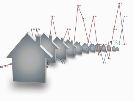 apartment market: Creciente casa venta dise�o gr�fico
