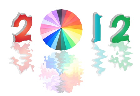 graduation countdown: Creative 2012 New Year concept