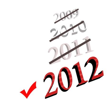 written date: New Year 2012 Stock Photo