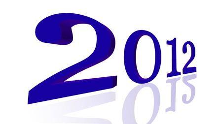 3d - 2012, Happy New Year Stock Photo - 10798746