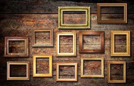 Nature photo on wood wall