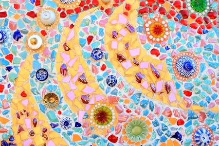 mosaic floor: mosaic wall decorative ornament from ceramic broken tile