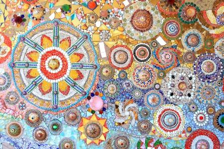 mosaic wall: mosaic wall decorative ornament from ceramic broken tile