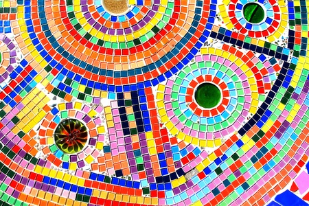 mosaic wall decorative ornament from ceramic broken tile Stock Photo - 11755212