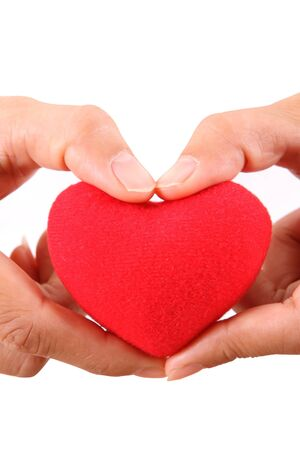 Female hands with red heart Stock Photo - 11861257
