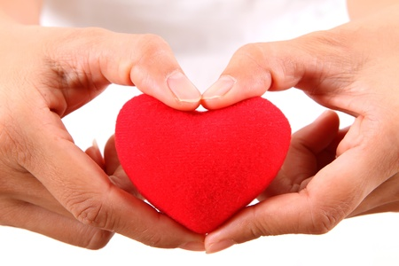 Female hands with red heart Stock Photo - 11861264