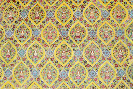 Thai art wall pattern for background photo