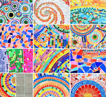 mix Colorful mosaic background photo