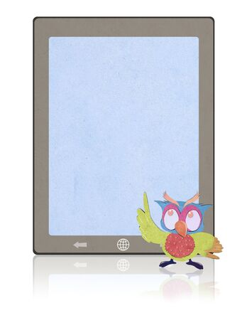 tablet  recycled paper craft stick photo