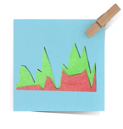graph icon  recycled paper stick photo