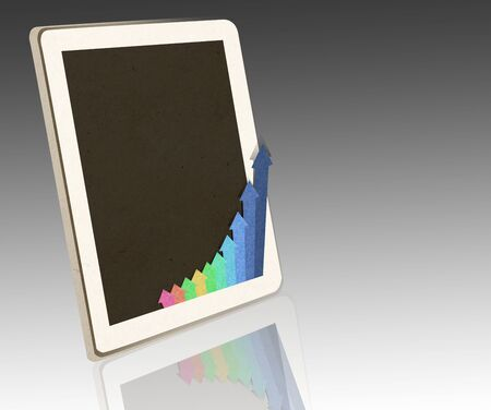 tablet PC with business concept photo