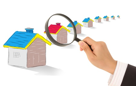 Red House under the magnifying glass photo