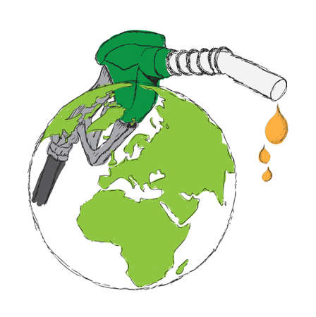 biodiesel: sketch bio diesel isolated on a background Stock Photo