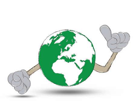 Earth Hand drawn Stock Photo - 12403347