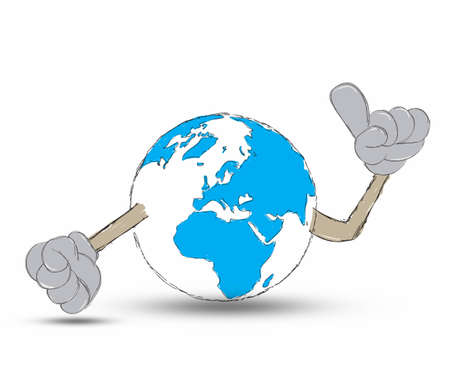 Earth Hand drawn Stock Photo - 12403350