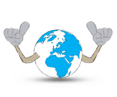Earth Hand drawn photo