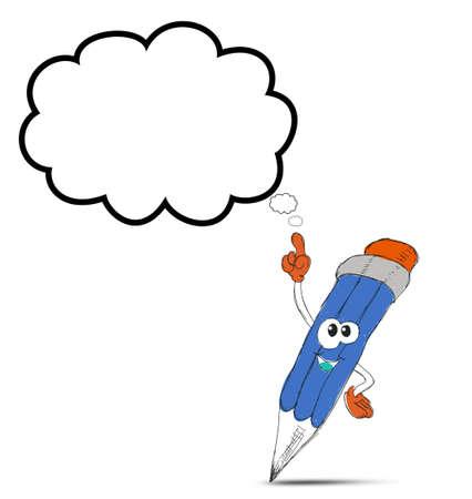 cartoon pencil: happy pencil cartoon character