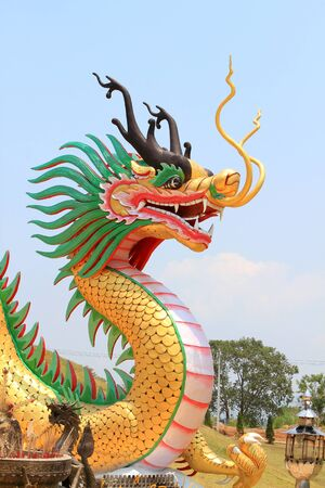 Dragon sculpture in the sky Stock Photo - 13314357