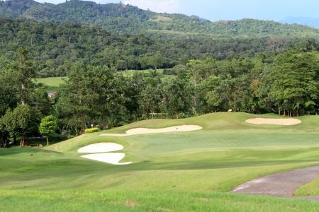 Landscape of golf field photo