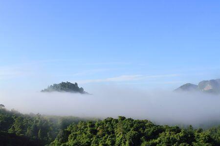 Atmosphere morning on mountain , Thailand photo