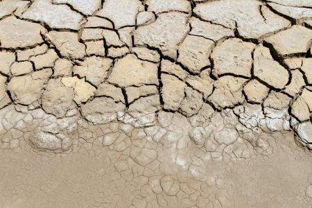 Dry soil in arid areas photo