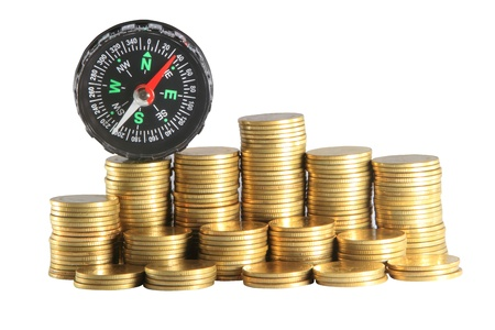 Financial concept - navigating in difficult times photo