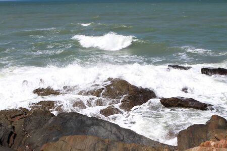 Stones on the tropical beach photo