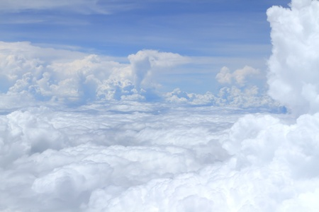 Airplane above clouds Stock Photo - 15321354