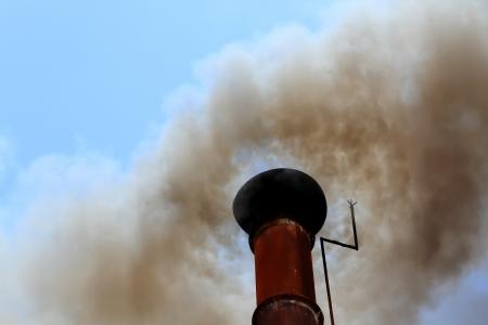 emission: pipe black smoke emission
