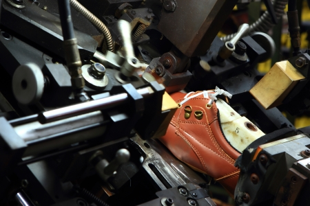La production de chaussures