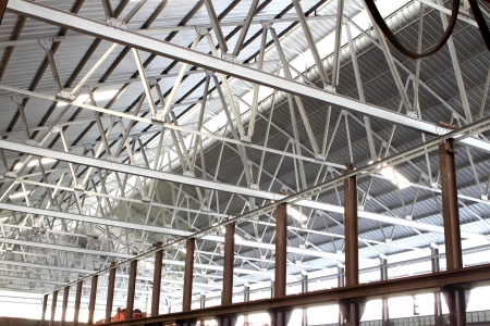 Roof of large modern storehouse photo