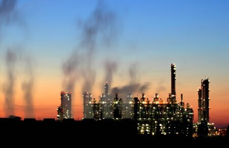 Oil refinery at twilight  Map Ta Phut Industrial Estate Rayong Thailand  Stock Photo - 16042987