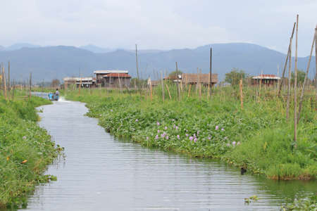 Inle Lake is a freshwater lake located in the Shan Hills in Myanmar (Burma). photo