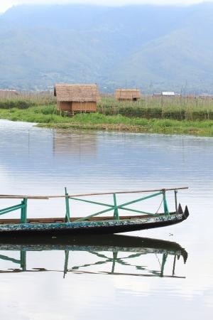 stilt house: stilt house on lake