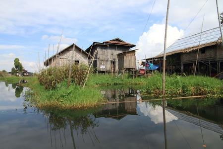 Houses at Inle lake, Myanmar Stock Photo - 16475043