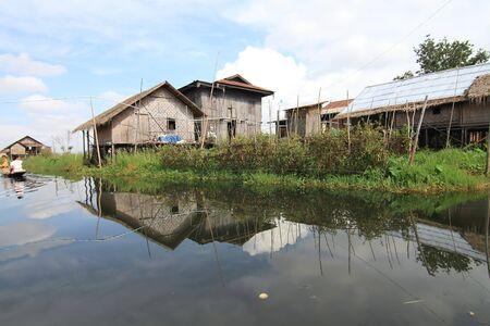Houses at Inle lake, Myanmar Stock Photo - 16475055