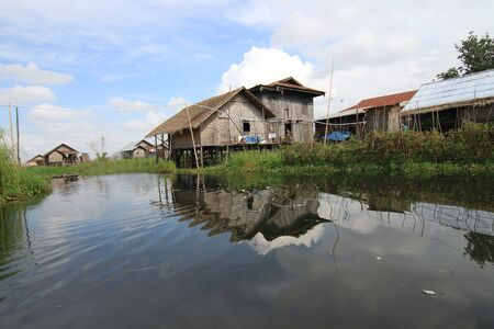 Houses at Inle lake, Myanmar Stock Photo - 16475041
