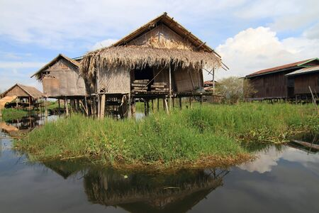 Houses at Inle lake, Myanmar Stock Photo - 16475080