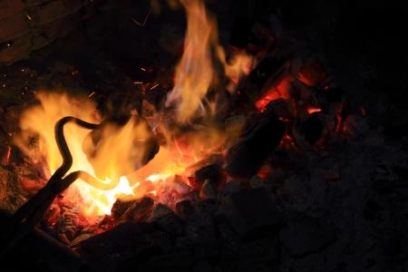 Smeden brand in smid is waar ijzeren werktuigen zijn gemaakt