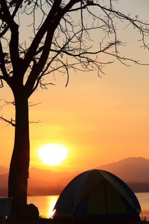 Campground beside the lake,National park,Thailand Stock Photo - 17295894
