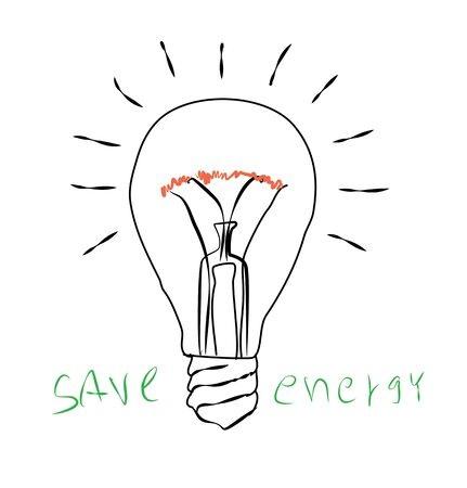 scriibble: Light bulb icon :save energy