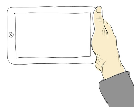 drawing  hands holding touch Stock Photo - 17296025