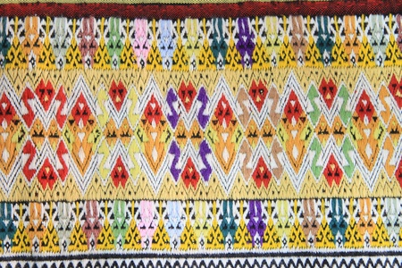 Closeup texture of thai style fabric weave hand-woven Stock Photo - 17469675