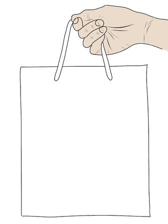 hand drawning  Shopping Bag Stock Photo - 17576536