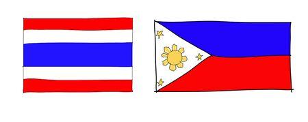 hand drawn   of flag of ASEAN Economic Community, AEC Stock Photo - 17576524