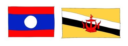 hand drawn   of flag of ASEAN Economic Community, AEC Stock Photo - 17576522