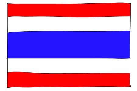 thailander: hand drawn   of flag of Thailand