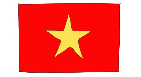 hand drawn   of flag of  Vietnam Stock Photo - 17576520