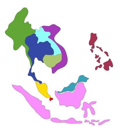 drawing  ASEAN Economic Community, AEC Stock Photo - 17576558